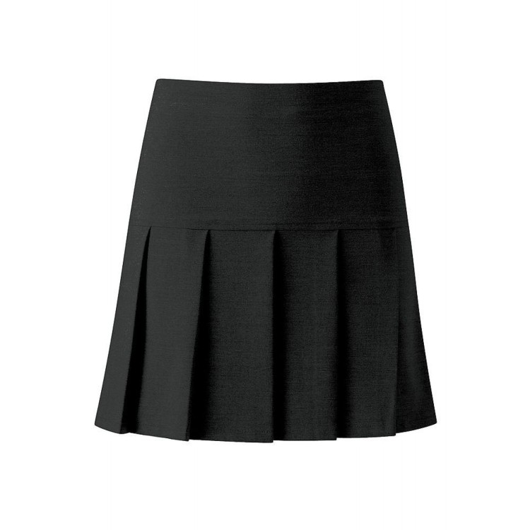 Black Charleston Pleated Skirt