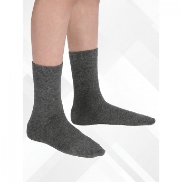 Boy's Grey Socks Pack of 3