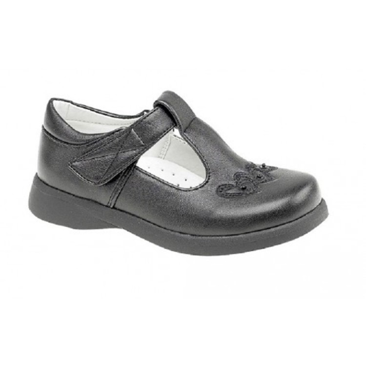 Girls Touch Fastening T Bar Shoe C732A