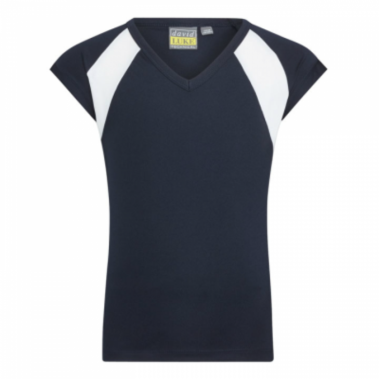 TSS Girls V Neck Sports T-Shirt (Senior Sizes)