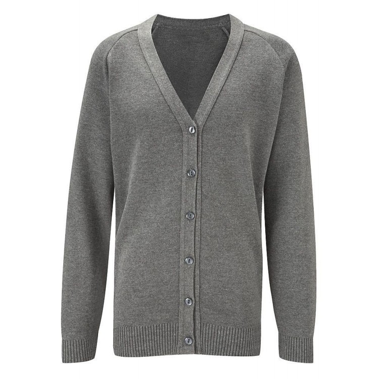 Grey Knitted 50/50 Cardigan JUNIOR SIZES