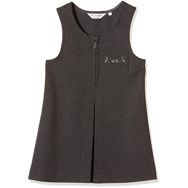 Grey School Zip Pinafore Dress