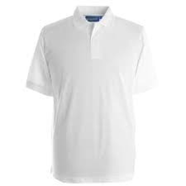 Lower Halstow White Polo Shirt with Logo