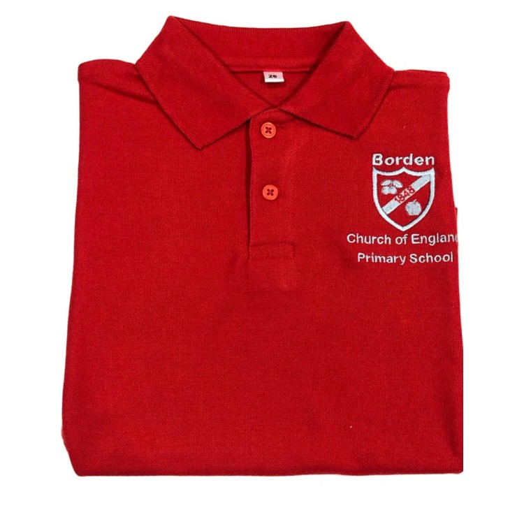 NEW Borden C of E Primary Polo with Logo
